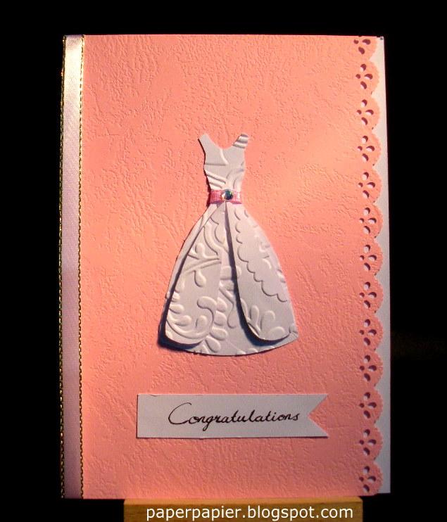 Wedding dress template by Lynn Pratt printed on white cardstock