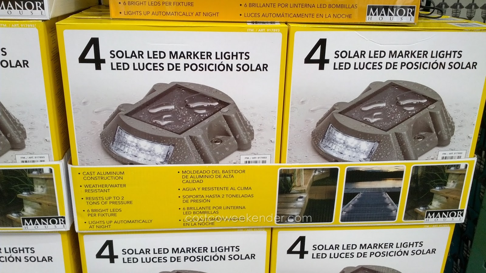 Set  Solar Marker Lights. Manor House Outdoor Lighting. Home Design Ideas