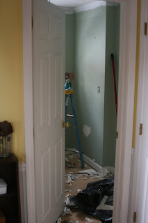 Knit Jones Bathroom Reno Day 1in Pictures