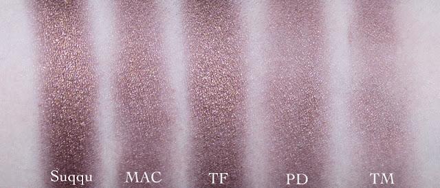 Paula Dorf Perfect Sheer Crease Brush,  Trish McEvoy #29 Tapered Blending Brush, Tom Ford 13 Eye Shadow Blend Brush, MAC 217, Suqqu Eyeshadow M brush comparison