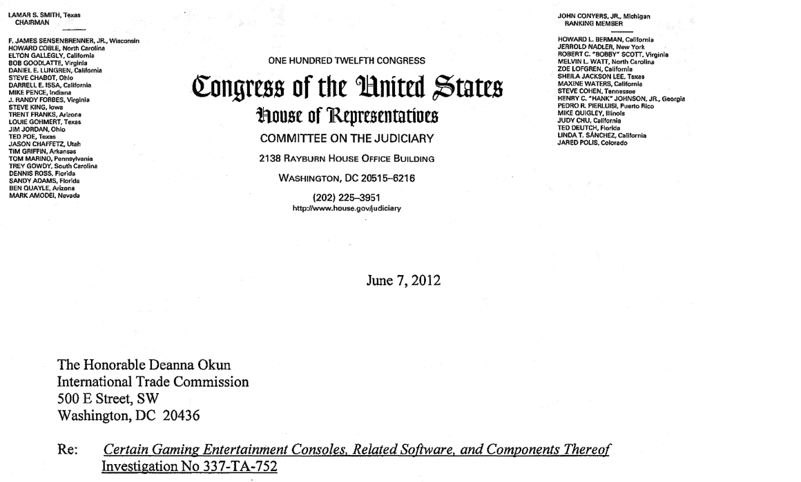 Foss patents members of congress write to itc to express concern letters in support of microsoft were also signed by eight members of congress from microsofts home state of washington and by a congresswoman from north thecheapjerseys Gallery