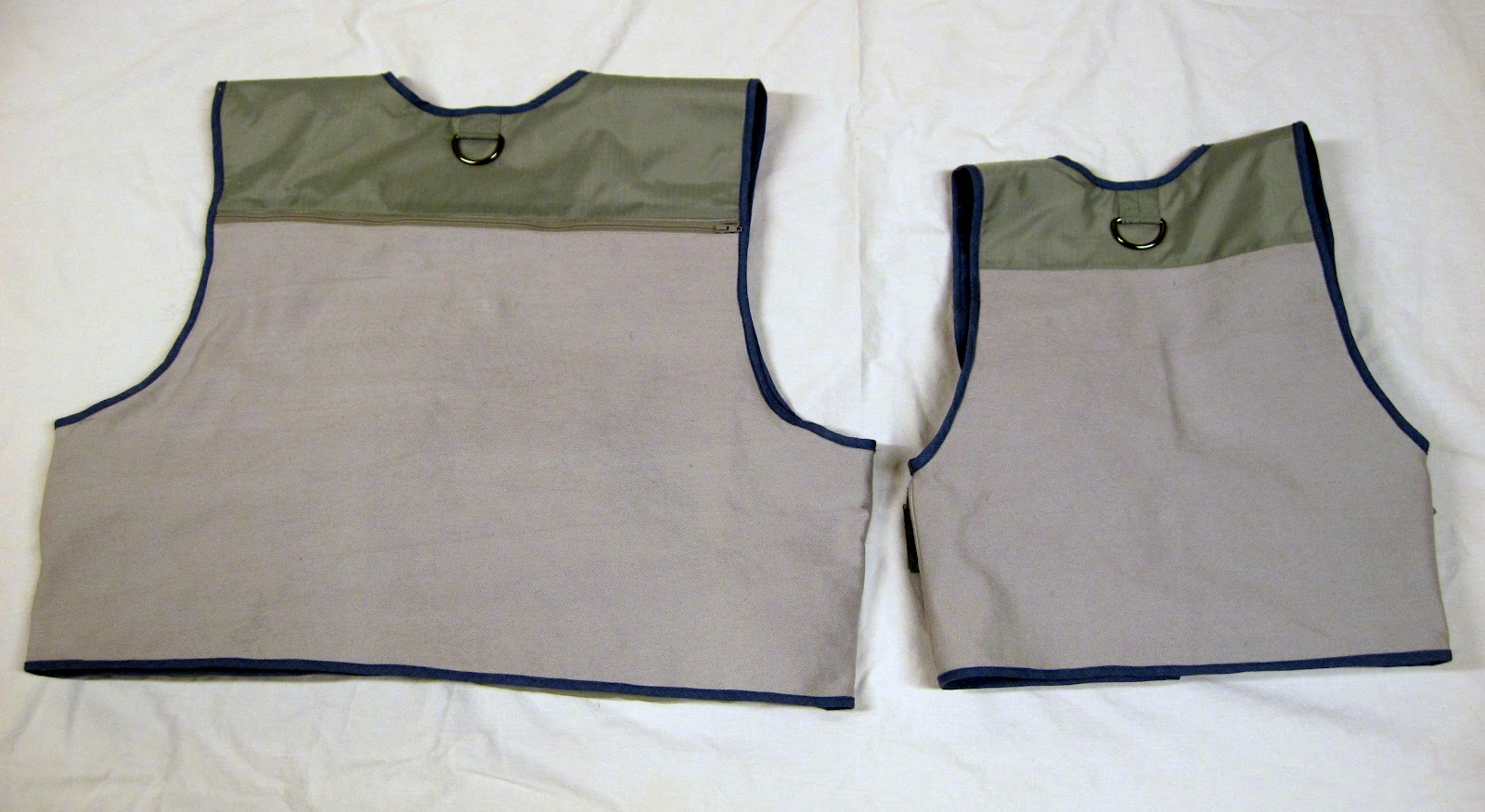 Father and son fishing vests so you think you 39 re crafty for Toddler fishing vest