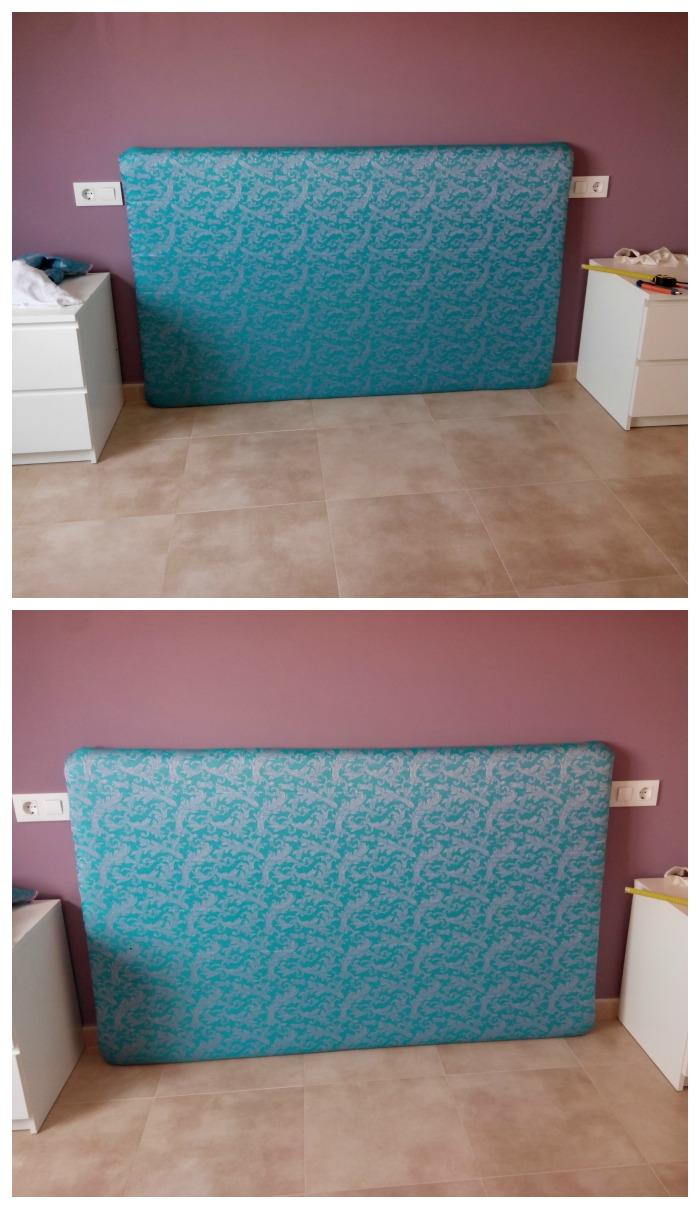 Pero qu cosa m s bonita como hacer un cabecero de cama - Telas para forrar cabecero cama ...