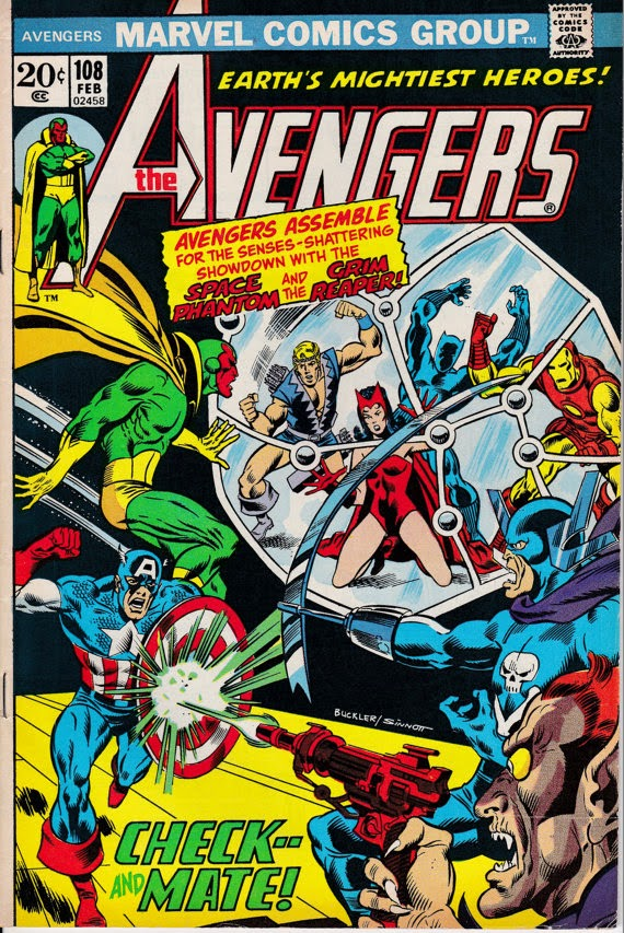 Avengers (1963 1st Series) #108, February 1973 Issue - Marvel Comics - Grade F/VF