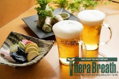 Bia rượu nguyên nhân gây hôi miệng