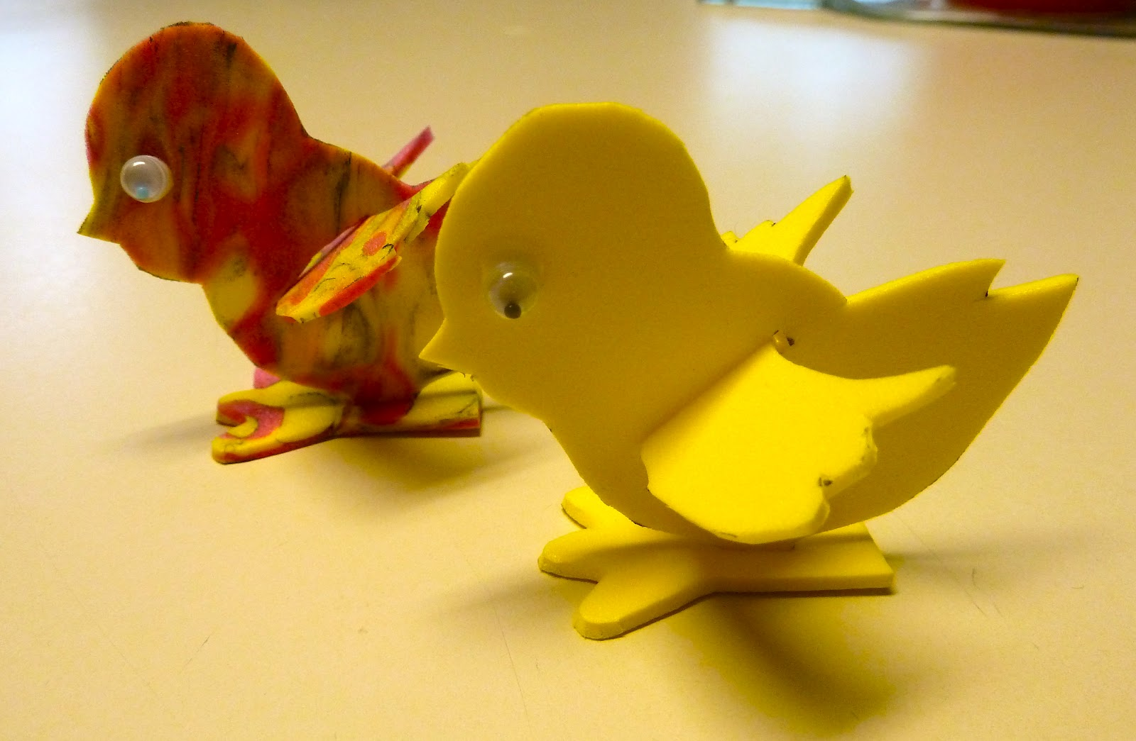 Memory foam for crafts - 3 D Fun Foam Easter Chick Easy Instructions