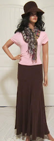 LDS Sister Missionary Skirt in Sueded Knit Jersey  Maxi Skirt
