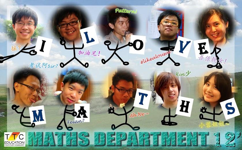 TTC MATHS DEPARTMENT