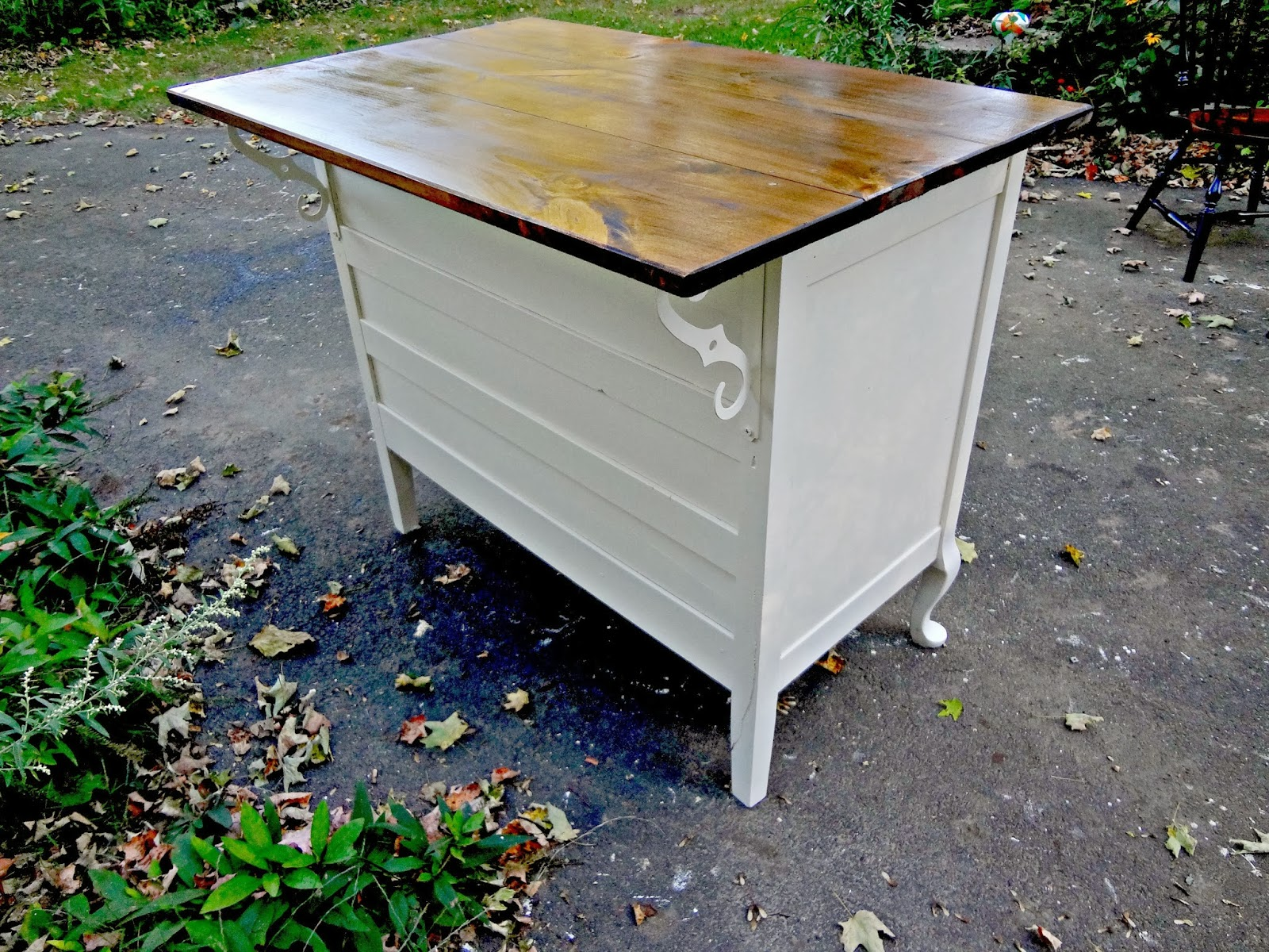 Kitchen Island From Dresser heir and space: antique dresser turned kitchen island