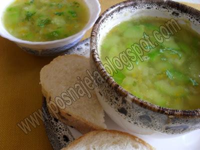 Супа од тиквица-на води