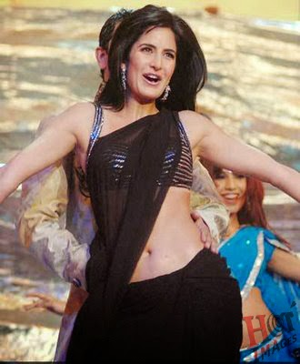katrina kaif hot in black saree images
