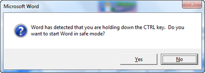 Cara safe mode pada ms word