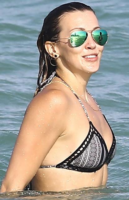 American Actress Katie Cassidy Hot Bikini Stills At Miami
