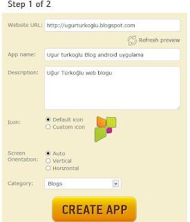 Blog android uygulama yapma 3
