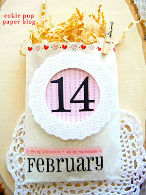 SRM Stickers Blog - Angi Barr - Valentine Glassine Goodie Bag - #Valentine #February #borders #stickers #doilies #numbers #Glassine bag