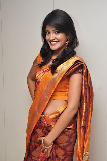 Model krupali in silk saree at cmr ashadam event 002.jpg