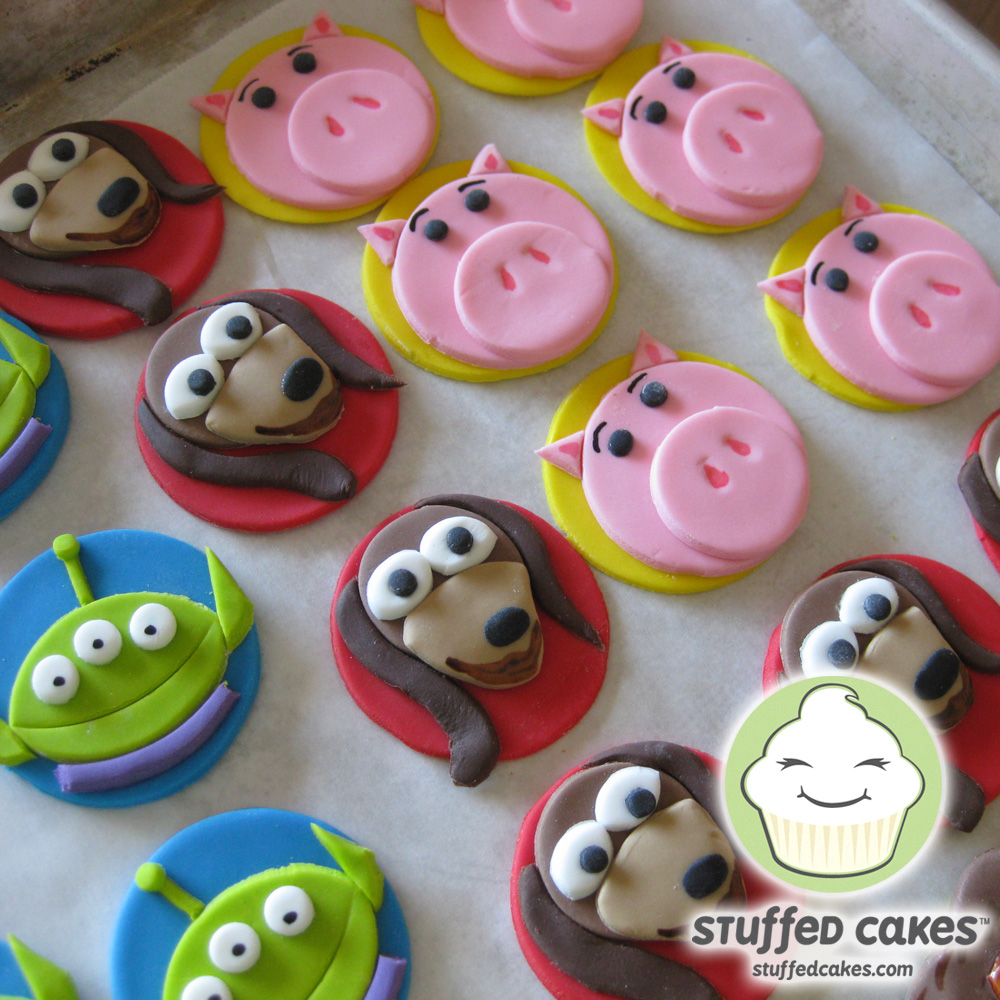 Toy story fondant cupcake toppers stuffed cakes toy story cupcake