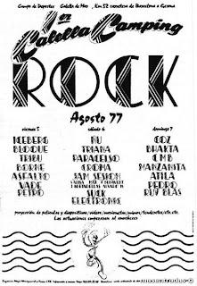 entrada de concierto del calella rock