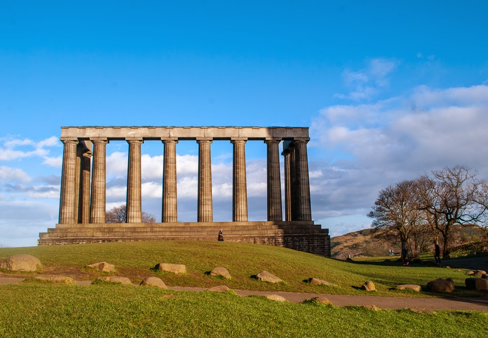 Grecian structure on calton hill