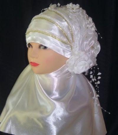 Hijab voile simple mariée