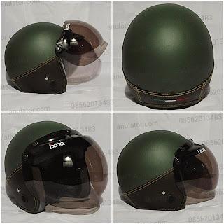 Helm doff dark green choco