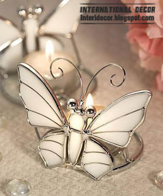 butterfly candle holder modern candle holder white candle holder Modern candles holder, romance candles holders 2013