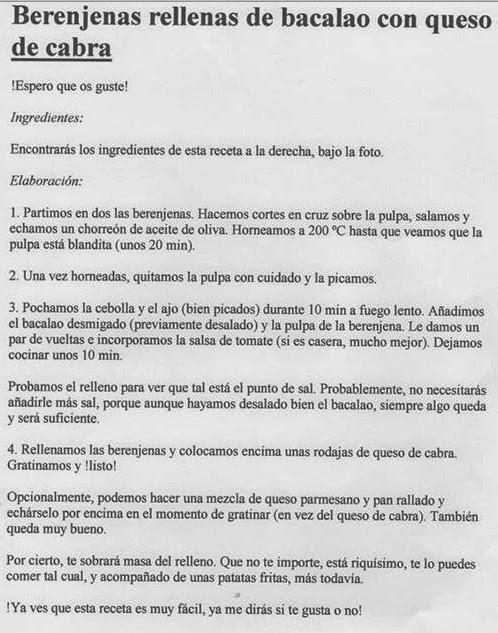 Maestr s del fogon berenjena rellena de bacalao por salome - Berenjenas rellenas de bacalao ...