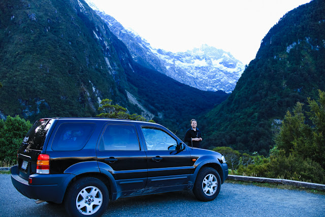 rental car in New Zealand mountains