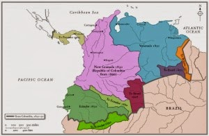 Map of Gran Colombia