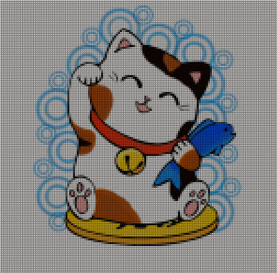 Digital Kristik - Maneki Neko - Kucing Keberuntungan - Lucky Cat
