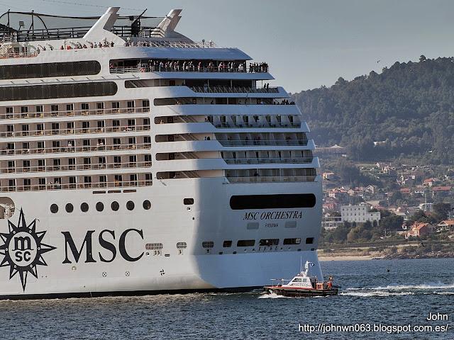 fotos de barcos, imagenes de barcos, msc orchestra, msc cruceros, vigo