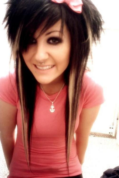 cute hairstyles for girls with long_15. short emo hairstyles for