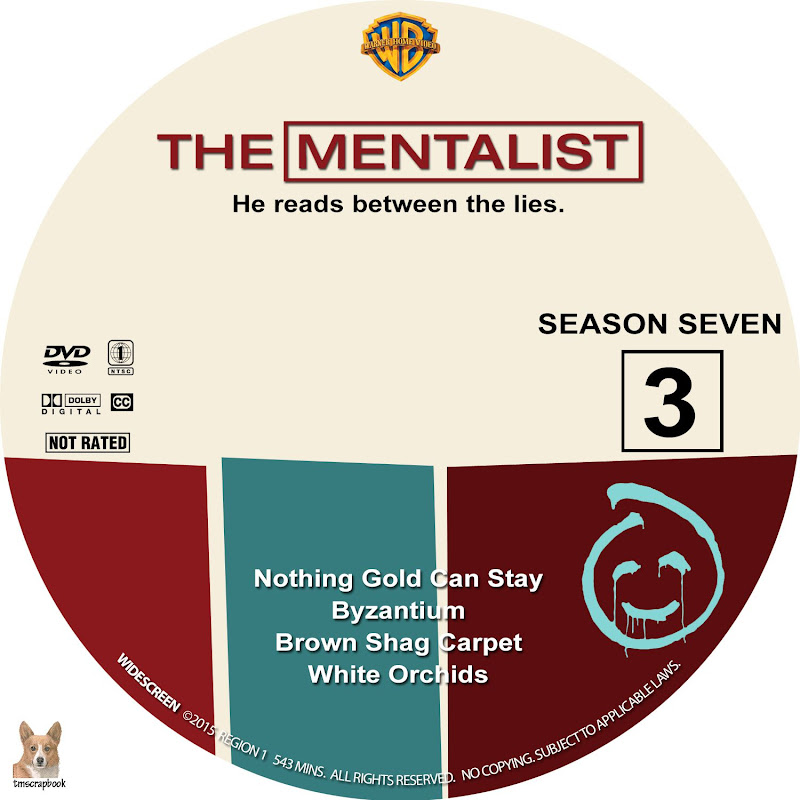 Label DVD The Mentalist Season Seven