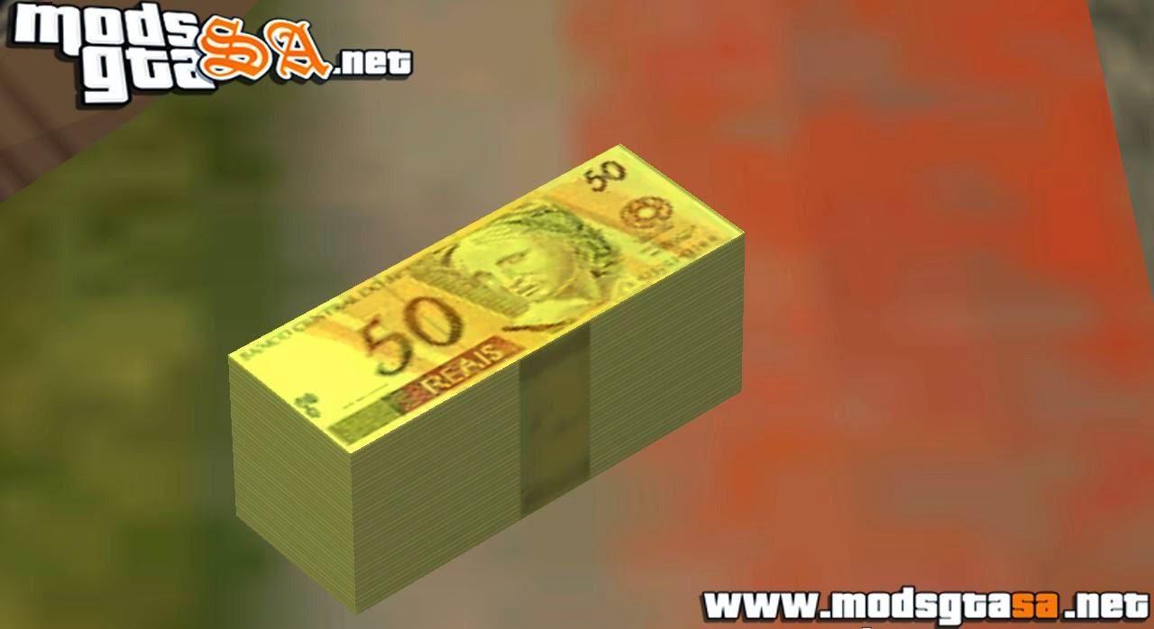 SA - Mod dinheiro brasileiro com notas de 50 reais