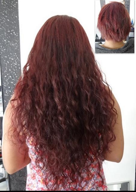 Mega hair vermelho