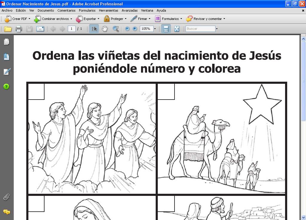 Profesor de ERE: Ordenar el Nacimiento de Jesus