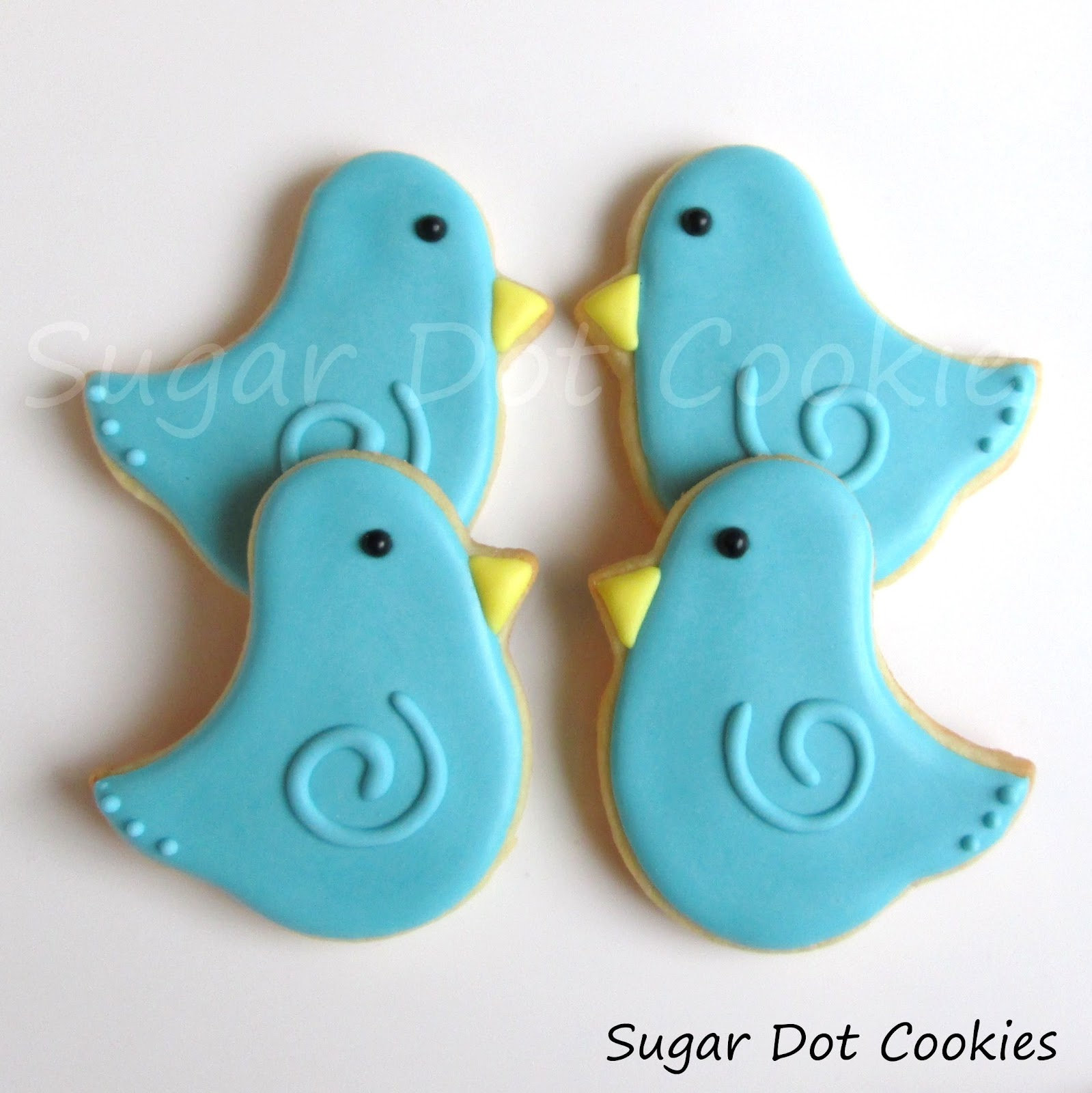 Then I had to make some bluebirds using the same cutter. Super cute!