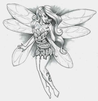 Fairy Tattoo Stencils