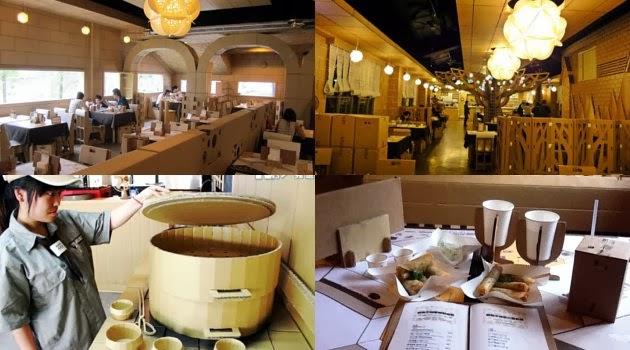 Restoran Unik di Taiwan Terbuat dari Kardus