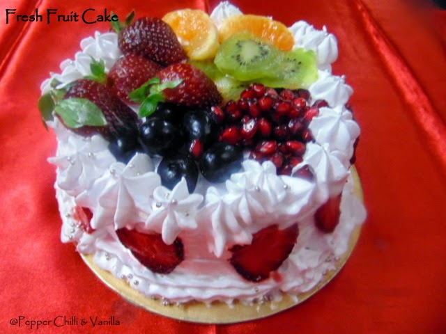 Fresh Fruit Cake Reciperthday Cake Idea Pepper Chilli And Vanilla
