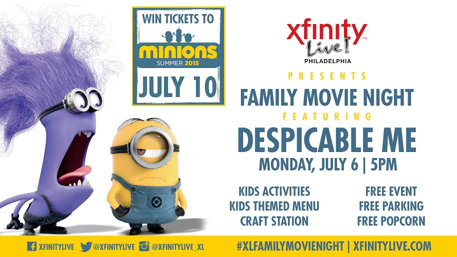 Fun things to do with kids xfinity live july family movie night despicable me win minions - Despicable me xfinity ...