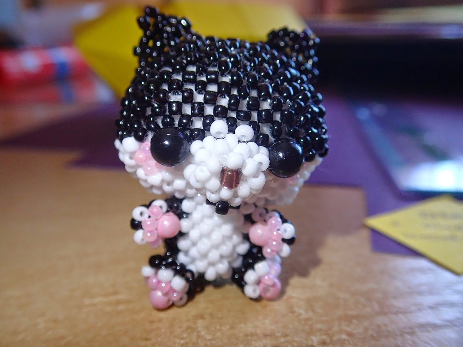 kotek z koralików