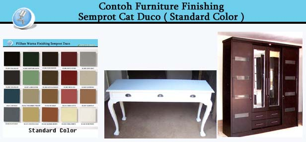 Contoh Furniture Finishing Cat Duco Standard