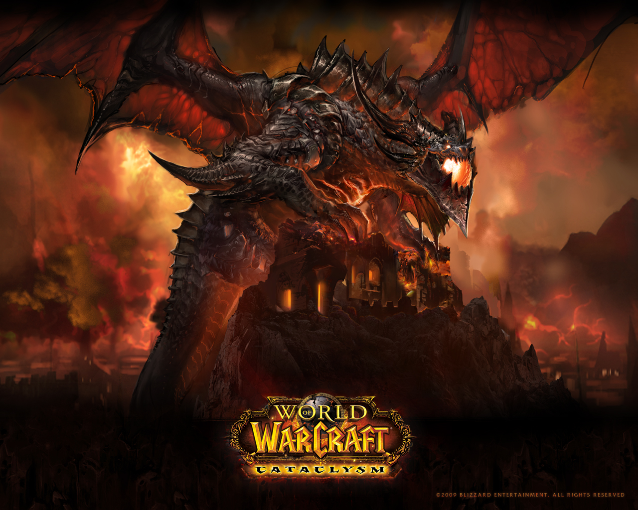 Cataclysm in the World of Warcraft  Wallpapers