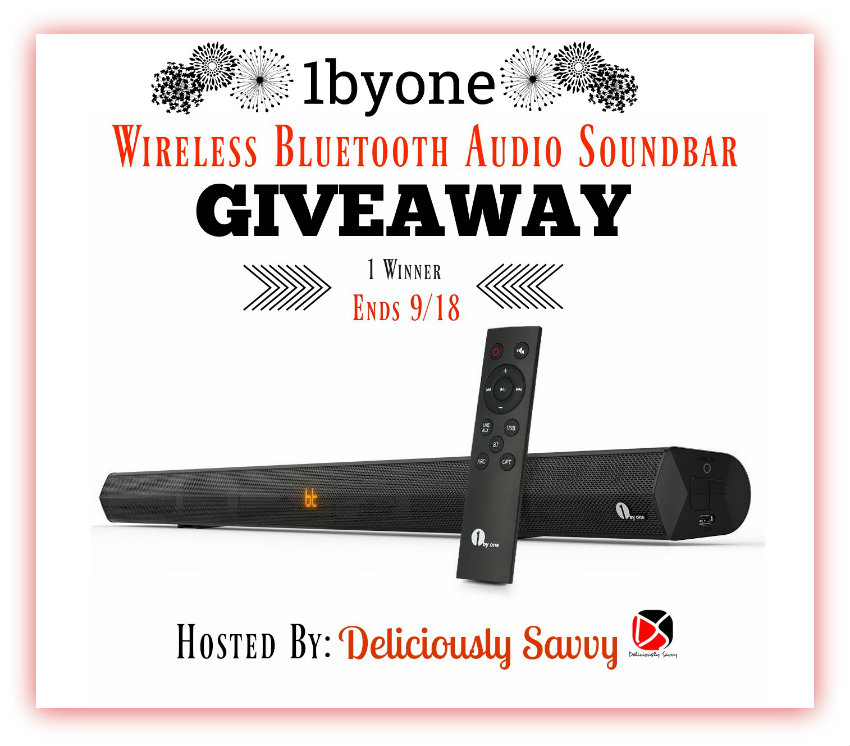 1byone Wireless Bluetooth SoundBar Giveaway