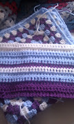 So here are two WIP blankets for them. In the background is a large granny .