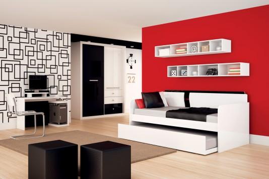 Construindo Minha Casa Clean Quartos Modernos de Meninos!!! ~ Quarto Preto Cinza E Vermelho