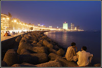 Marine Drive Mumbai during Night