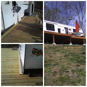 The deck is coming along and looking good,