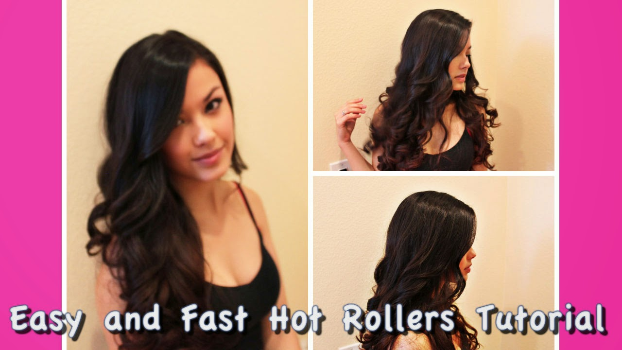 the beauty breakdown hot roller hair tutorial how to easy fast quick hair curlers